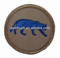 round applique embroidered animal patches