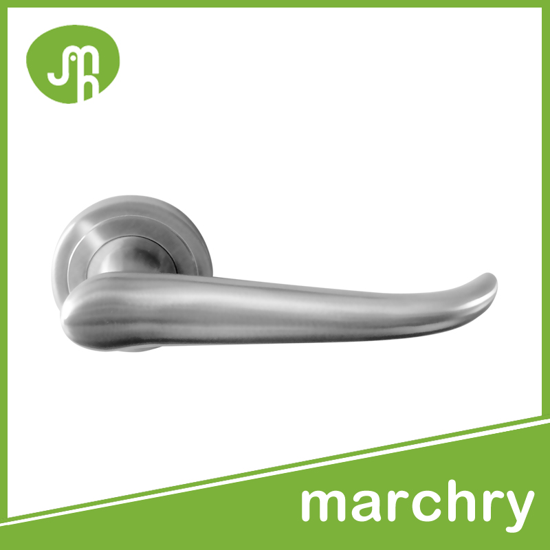 MH-0343 stainless steel satin finished door lever handles