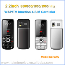 China OEM cheap mobile phone 4 sim 4 standby model 6700