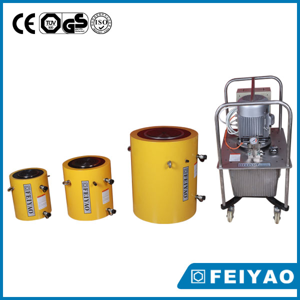 Double acting hydraulic jack/high tonnage hydraulic cylinder/lifting tools