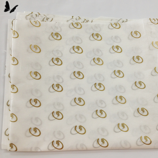 Luxury custom logo printed wrapping tissue/silk paper