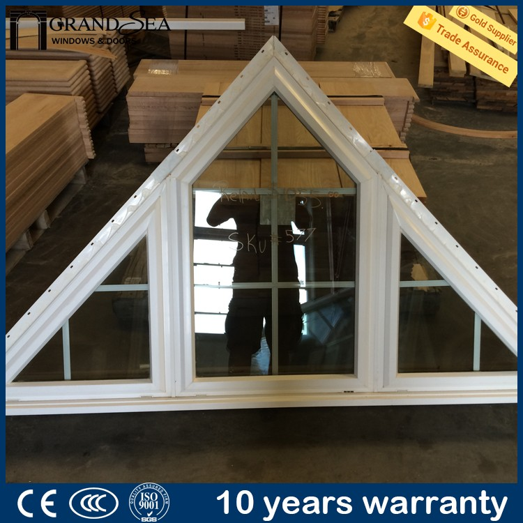 Customized thermal break double insulated fixed triangle for Thermal windows prices