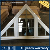 Customized thermal break double insulated fixed triangle window glass