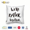 Hot Sale Plain Style Modern Decorative Lovely Couples Pillow Covers Digital Print Cushion Cover