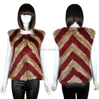 YR595 New Collection/ multicolored rabbit fur vest/ hot selling