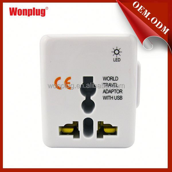 Wonplug 5V1A mini super performance CE ROHS approved all-in-one world travel smart plug