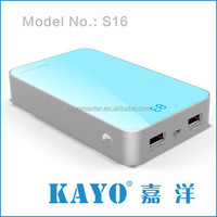 2015 hot sale best quality 18650 power bank for smartphone cell phone charing two USB output