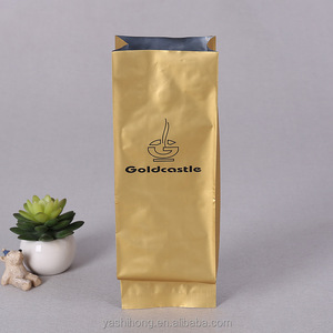 custom printed Aluminum foil Side gusset vacuum sealed coffee package bag with valve