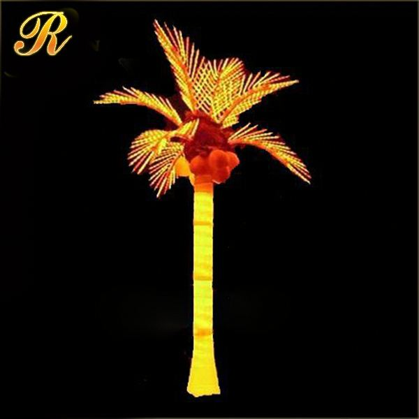 Delicate and long lifespan yellow lighted palm tree lowes
