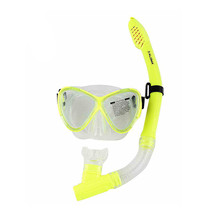 Silicone snorkel and mask set for Snorkeling Swimming Diving