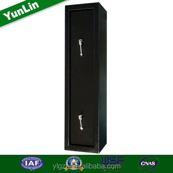 2015 Cheap gun cabinet have mechanical lock and ammo box 24-Gun Door Storage Safe with Electronic Lock in Matte Black guncabinet