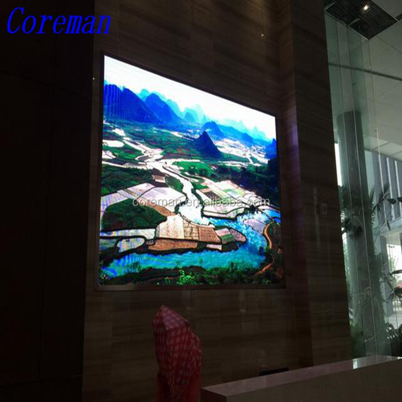 Coreman led display board p3.91 SMD indoor with indoor die casting led cabinet size 500X500mm 128X128pixel dot P3.91 P4.81
