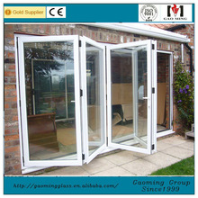 China Factory wholesale Aluminum frameless glass bi folding door