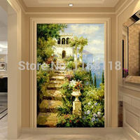 8 piece Free Shipping Popular living room wall mural Print painting on canvas background entrance hallway European Mediterranean