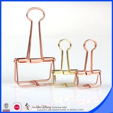PVC box packaging gold and rose gold skeleton clip