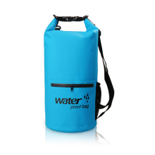 Outdoor PVC Waterproof Dry Bag with Exterior Zip Pocket