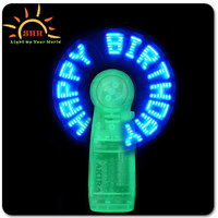 Birthday & wedding favors light up flashing message fan glow in the dark, novelty Advertising Brand New Led Message Fan