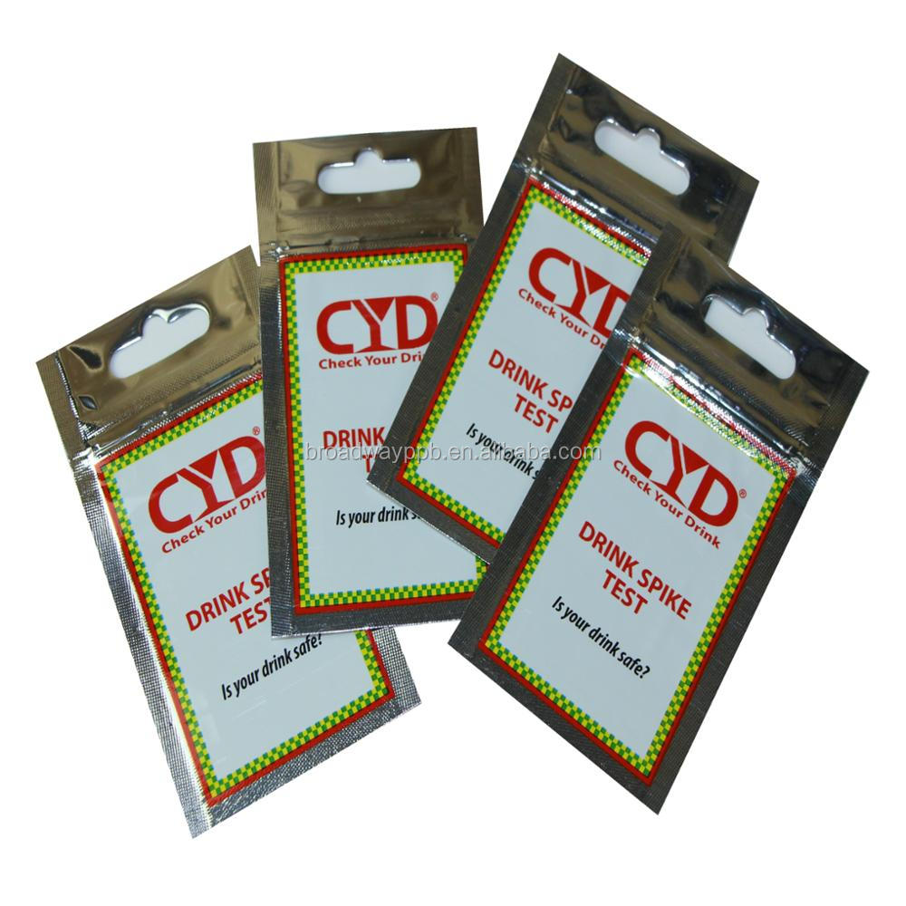 custom printed flat 3-side seal metallic glossy shinning small silver foil grip seal bag