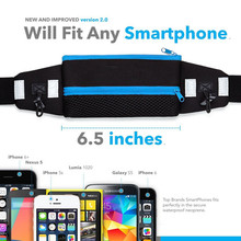 Sports Running Waist Pack Runner Belt - Secure Comfortable Travel Money Belt for Iphone 6s + Accessories for Men and Women