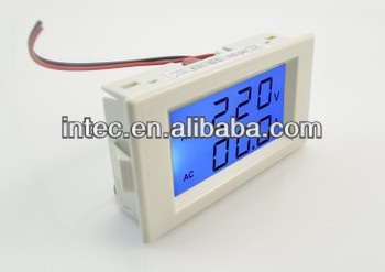 Dual display digital AC voltmeter/AC ammeter LED voltage meter
