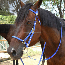 Wholesale Horse Harness plastic horse bridle with metal buckle
