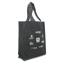 China Shenzhen advertisement slogans shopping carrying bag black canvas tote bag