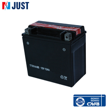 China supply YTX14-BS 12v 12ah lead acid motorcycle battery for wholesale