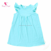 Solid Color Soft Cotton Baby Girls Puffy Dresses For Kids