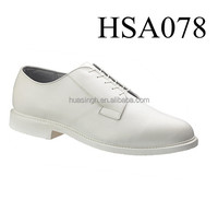 LB, Flat sole Bates important business activity white police secutiry guard dress shoes