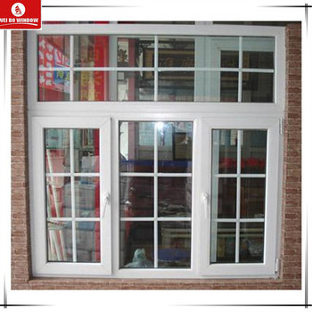 China supplier swing opening LG upvc profile material window with grills