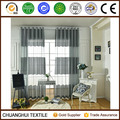 100% polyester striped sheer curtain made in china