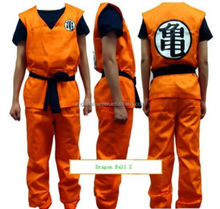 Anime Dragon Ball Z GoKu Cosplay Costume Set Fancy Party clothing AGM3405