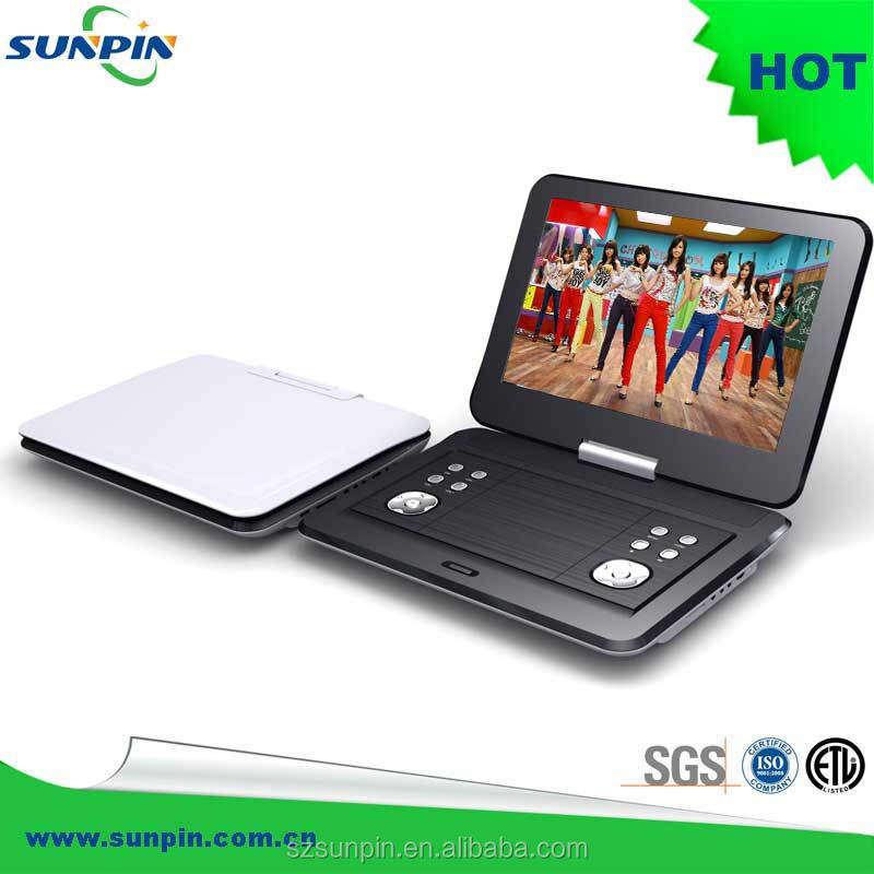 10''inch TFT tv tuner usb/sd/ms/mmc card reader portable dvd/cd mp4/wma player