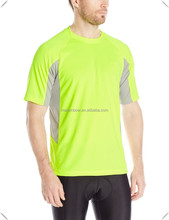 100% polyester High moisture-wicking dry fit fabric men and Women's High Visibility Active Tee with Reflective trim and logos