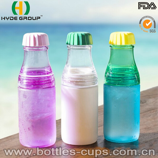 Wholesale 17oz Plastic Beverage Bottle with Small Cover