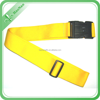 Manufacturer direct sale colorful Polyester luggage belt with adjustable buckle and lock custom logo