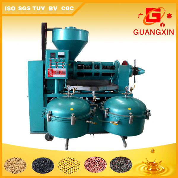 screw type soybean oil extruding machine