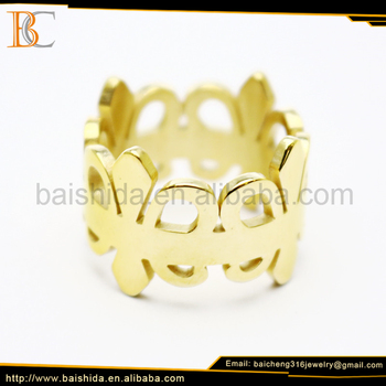 man jewelry gold ring metal stainless steel ring blanks