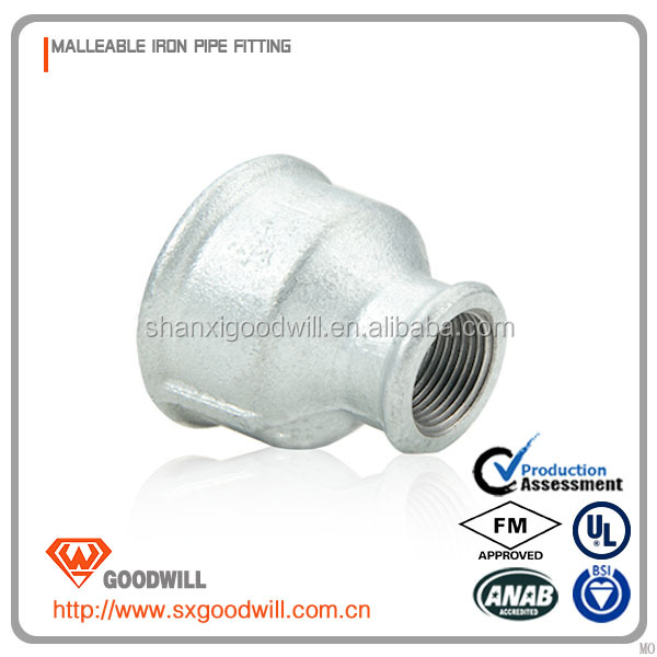malleable iron galvanized pipe internal threaded socket 240