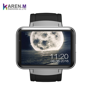 2017 Smart Watch Cell Phone with Android 4.4 OS MTK6572 Dual Core 3G WIFI GPS 2.2 inch Screen Smartwatch for Android (BLACK)