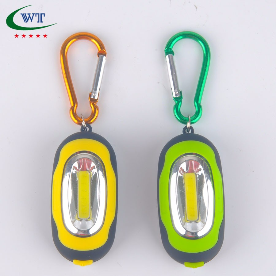 Super Bright COB light cob led work light With Carabiner