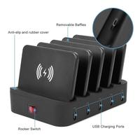 Charging Station for Multiple Devices,Docking Station with Qi Wireless Charging Pad, Smart IC Technology for Smartphones, Tablet
