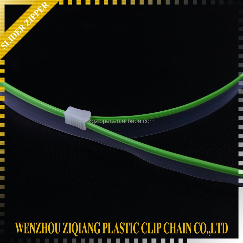 PE/PVC/PP slider zipper for resealable stand up pouches/Reversible Zipper Slider
