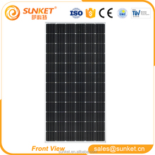 China origin 355w 360w Monocrystalline solar panel roofing sheets with TUV
