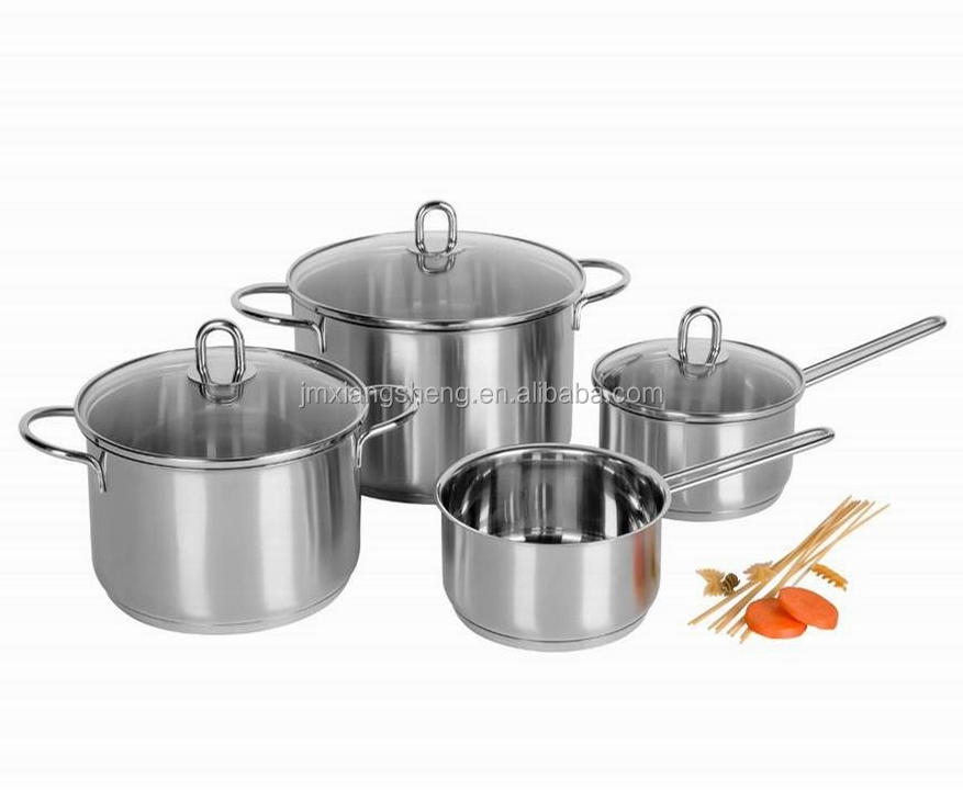 7pcs professional stainless steel giken pro ware cookware set