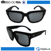 Most beautiful own logo smoke AC/PC/POLARIZED lens made in china wholesale sunglasses with metal decoration