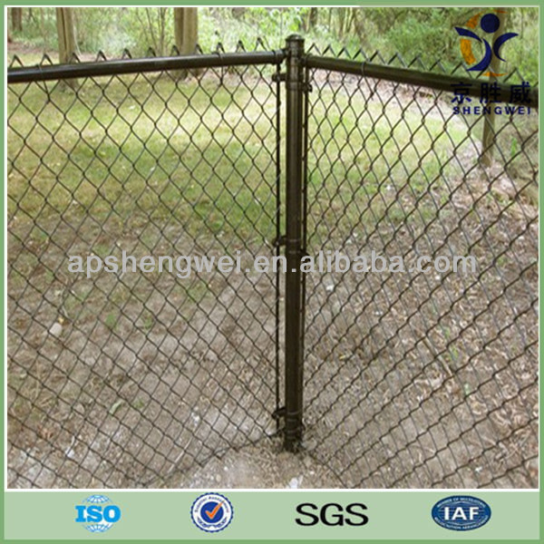 SGS Certified Pvc Coated Chain Link Perimeter Fence Designs