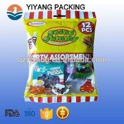 Bolsa com zíper saco de embalagem de alimentos bolinho personalizado com janela de plástico imprimir o logotipo