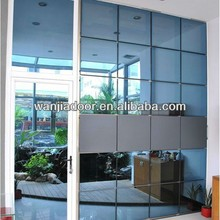 Reflective glass unitized curtain wall