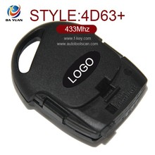 Original keyless transponder keys for ford fiesta 433Mhz 3 button 433Mhz 4d63+ auto key card